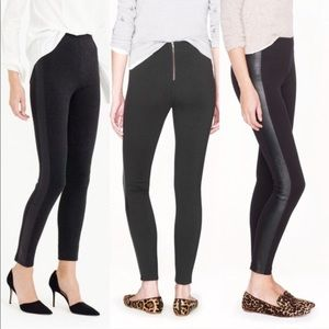 Jcrew pixie pants with leather tuxedo strip